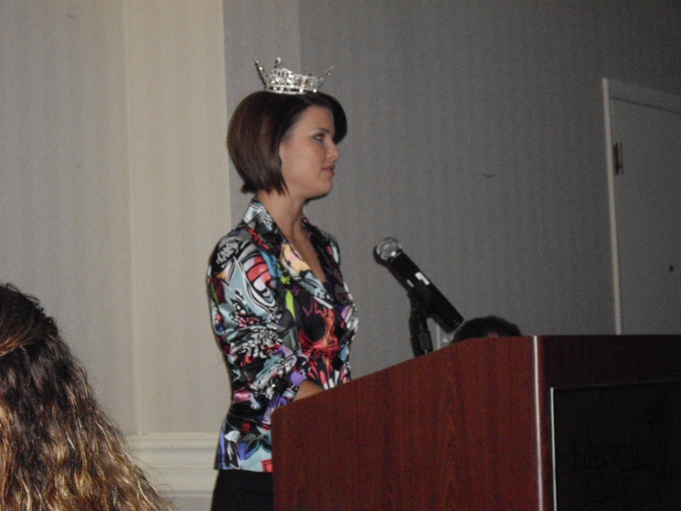 Sierra Minott, Miss Florida 2008 at NAREN 09 Conference