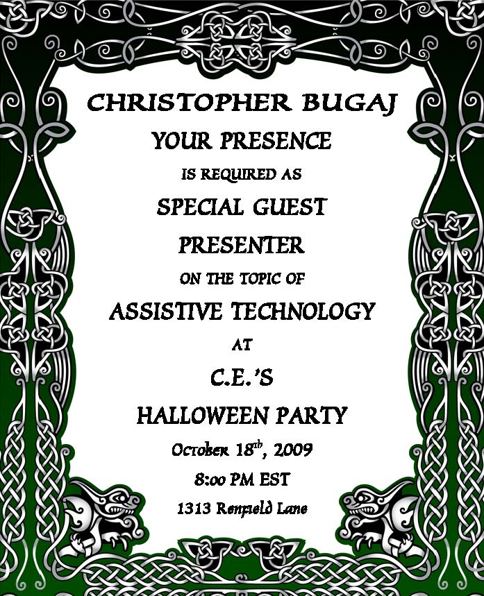 halloween party invitation the compendium blog of the a t tipscast