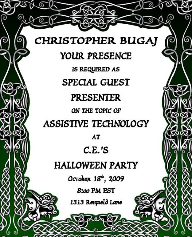 Invitation to Halloween Party
