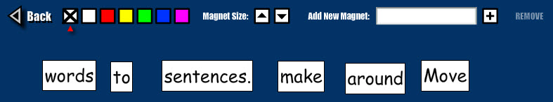 Screenshot of Word Magnets
