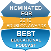 Edublog Award Best Educational Podcast Badge 2010