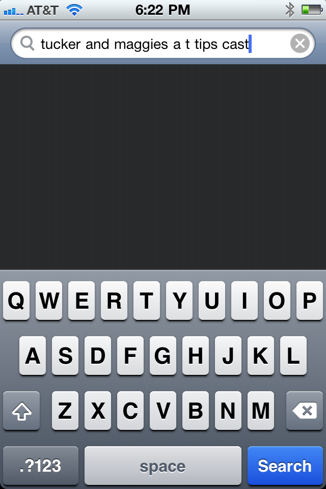 IPhone Keyboard Message From Tucker