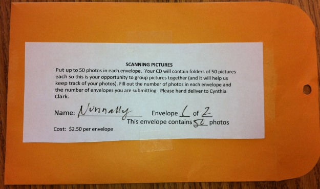 Picture of envelope for 50 pictures