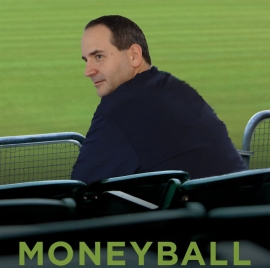 Picture of Chris posing like Brad Pitt in the poster for the movie Moneyball