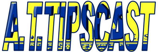 The A.T.TIPScast logo embedded within the word A.T.TIPSCAST