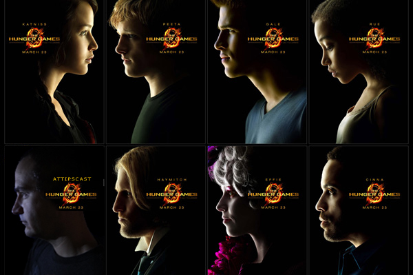 Profiles of characters from The Hunger Games with an embedded picture of Chris as one of the characters