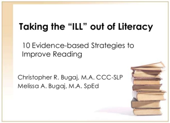 "Title Slide from the Taking the ""Ill"" out of Literacy presentation from VSTE 2012"