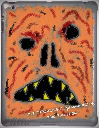 Cartoon Image of the iPad with a monster looking cover