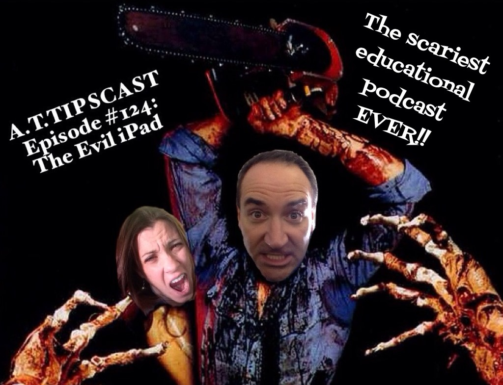 A photoshopped image containing Chris's head over Bruce Campbell's in an Evil Dead parody. Melissa is screaming behind him.