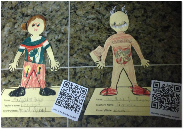 Heritage Dolls with QR Codes