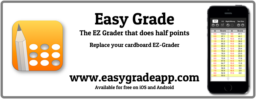 Advertisement for Easy Grade app