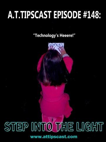 Parody poster from the movie Poltergeist with a little girl sitting in front of an iPad screen with static on it